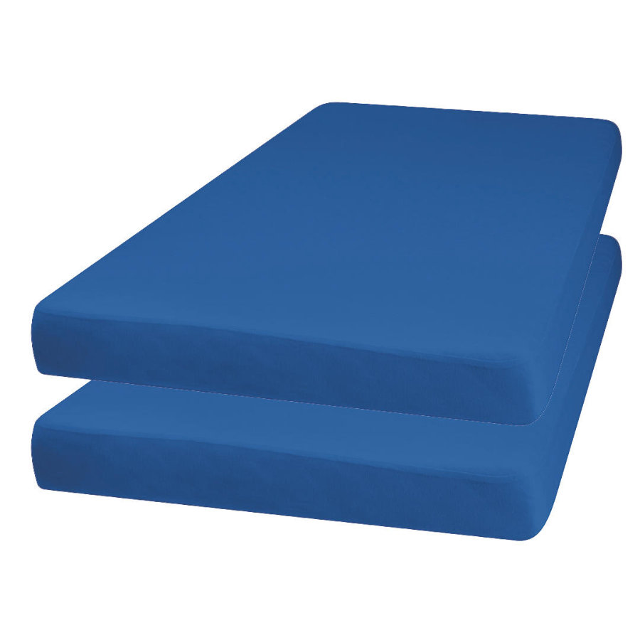 Playshoes Jersey Stræklagen 2-pack blå