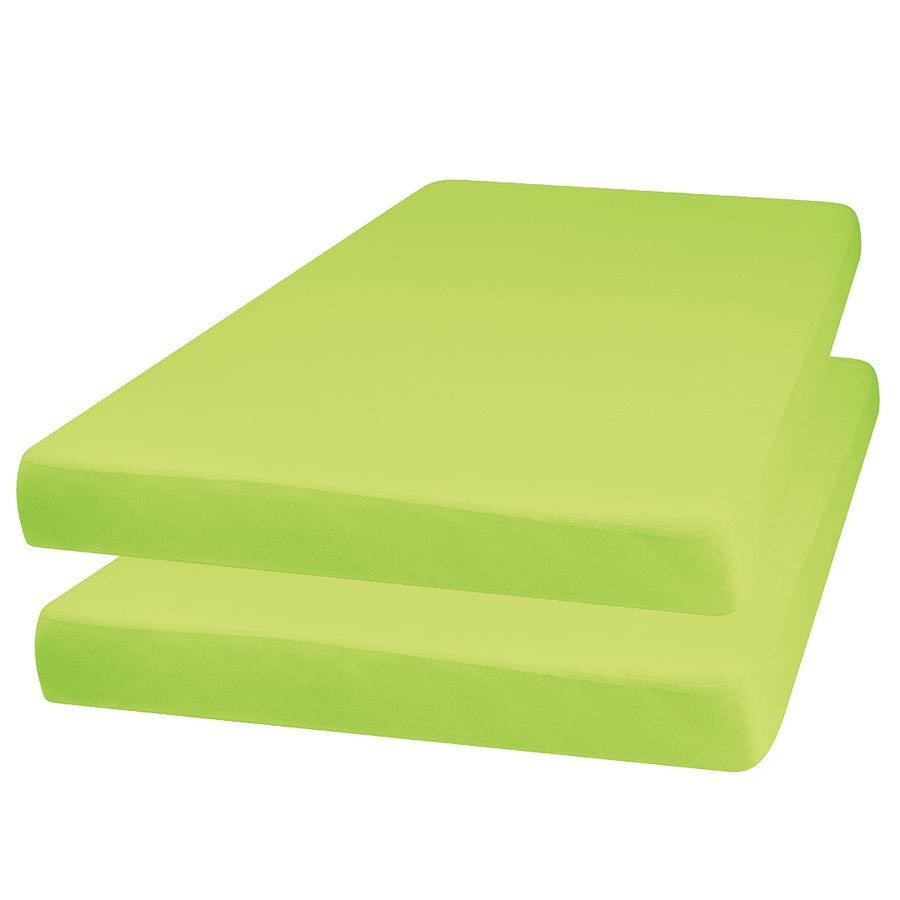 Playshoes  Jersey hoeslaken 2-pack groen