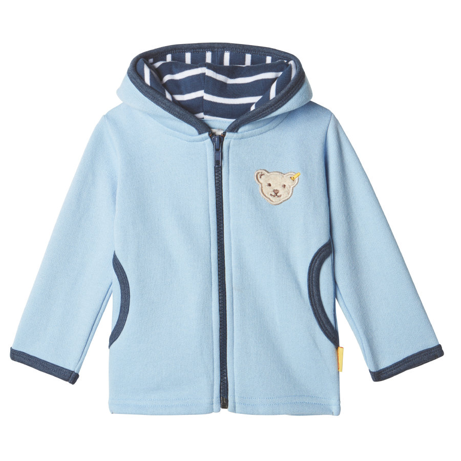 Steiff Boys Sweatjacket, chambray blue