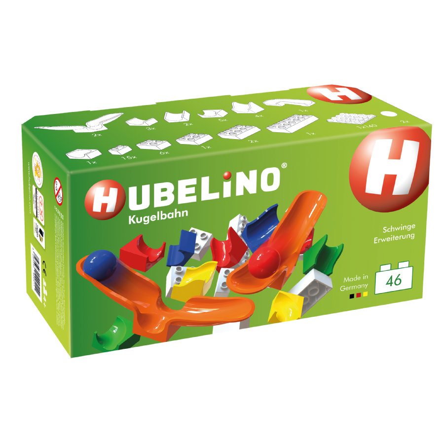 HUBELINO® Juego pista para bolas con piezas basculantes  46 piezas