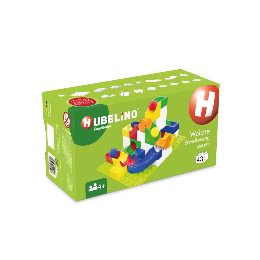 HUBELINO® Kugelbahn Weiche Erweiterung, 43-teilig
