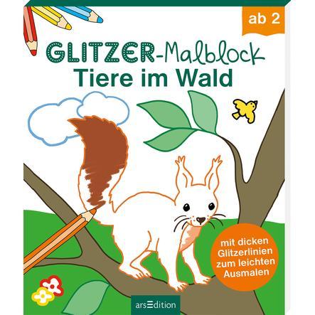 arsEdition Glitzer-Malblock - Tiere im Wald