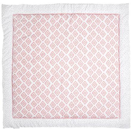 emma & noah kravletæppe ruder rosa 120 x 120 cm