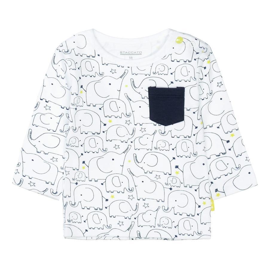 STACCATO Shirt white gemustert