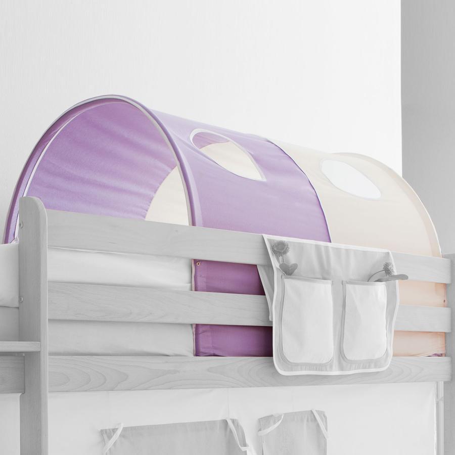 TICAA tunel na patrové a dvoulůžkové patrové postele fialový/béžový