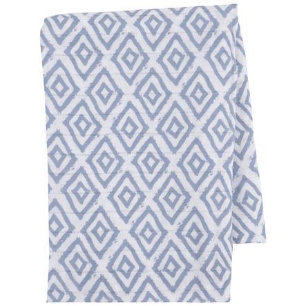 emma & noah Hydrofiele doek Ruitjes blauw 120 x 120 cm