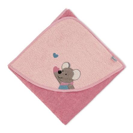 Sterntaler Kapuzenbadetuch Mabel rosa 80 x 80 cm