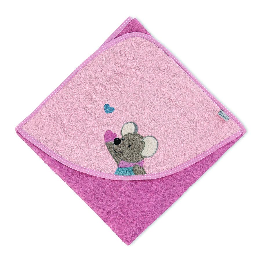 Sterntaler huva badlakan Mabel rosa 80 x 80 cm