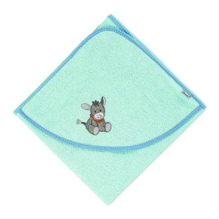Sterntaler Badetuch Emmi hellblau 80 x 80 cm