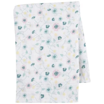 emma & noah Hydrofiele doek Bloemen mint 120 x 120 cm