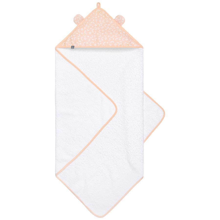 emma & noah hætte med badehåndklæder prikker fersken 80 x 80 cm