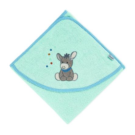 Sterntaler Osuška s kapucí Emmi světle modrá 100 x 100 cm