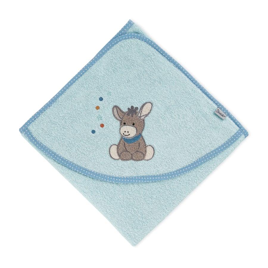 Sterntaler Toalla de baño con capucha Emmi azul claro 100 x 100 cm