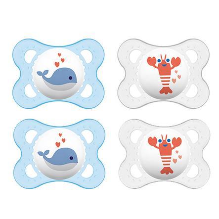 MAM sucette Original bleue 0 - 6 mois latex 4 pièces