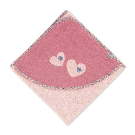 Sterntaler Hupullinen kylpypyyhe Mabel pehmeä vaaleanpunainen 100 x 100 cm