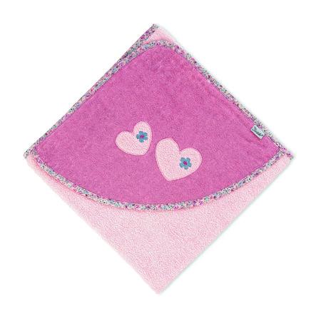 Sterntaler Toalla de baño con capucha Mabel rosa suave 100 x 100 cm