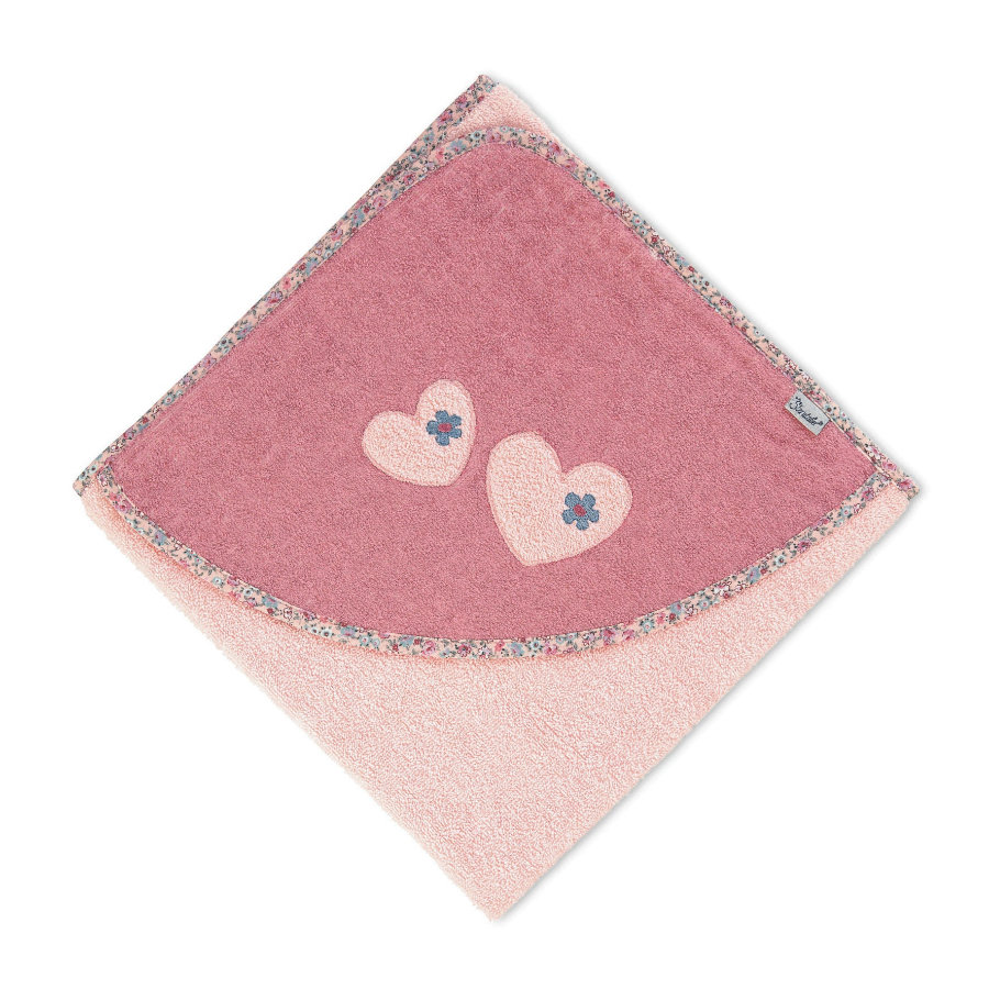 Sterntaler Håndklæde med hætte Mabel blød lyserød 100 x 100 cm