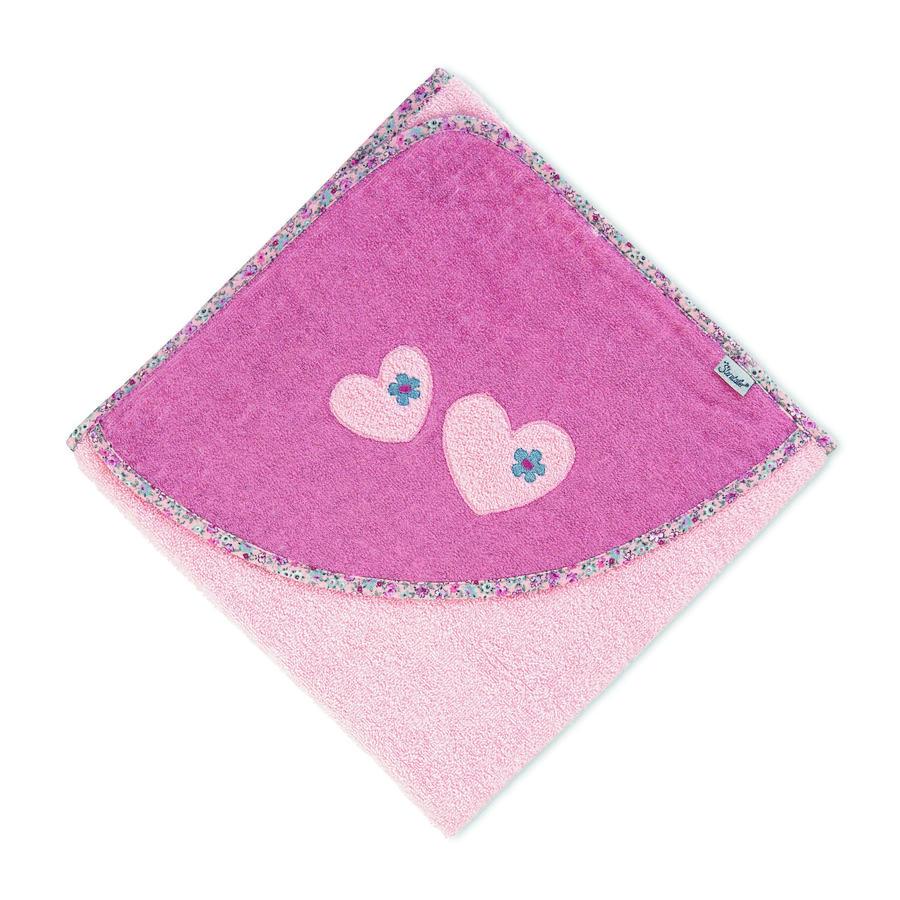 Sterntaler Osuška s kapucí Mabel soft pink 100 x 100 cm