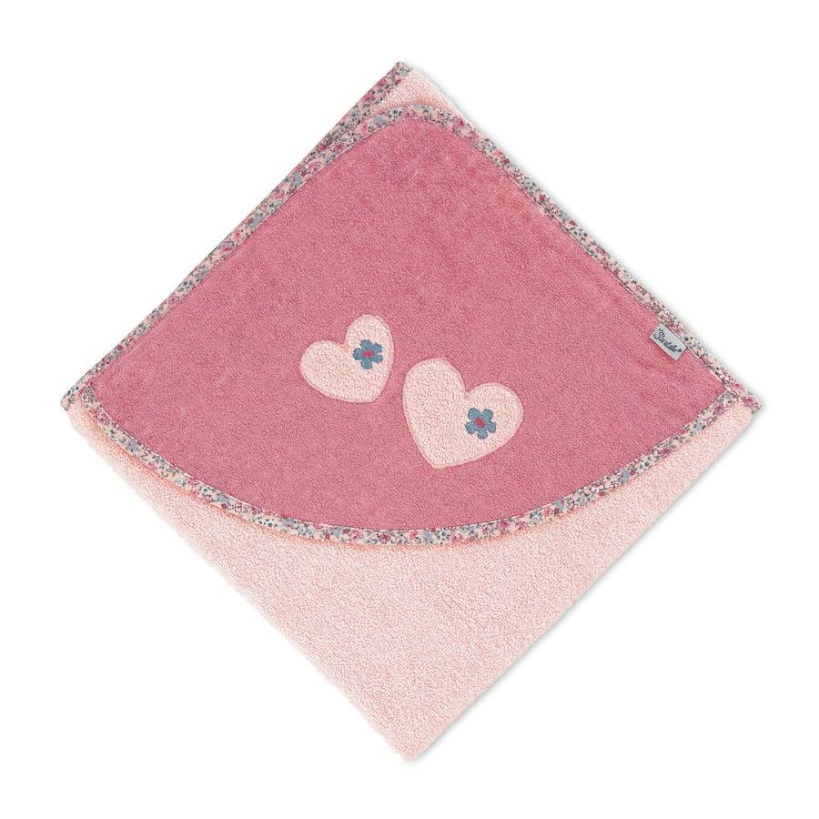 Sterntaler Ręcznik kąpielowy z kapturem Mabel soft różowy 100 x 100 cm