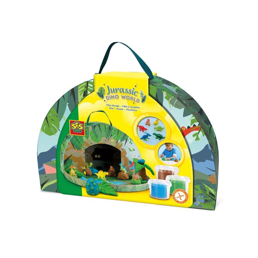 SES Creative® Knete Spielekoffer Jurassic-Dinowelt