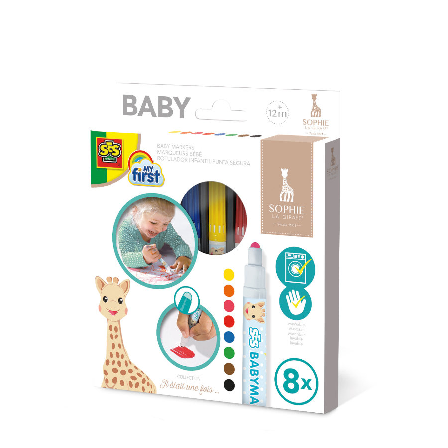 SES Creativ e® Sophie la girafe - Marqueur pour bébé
