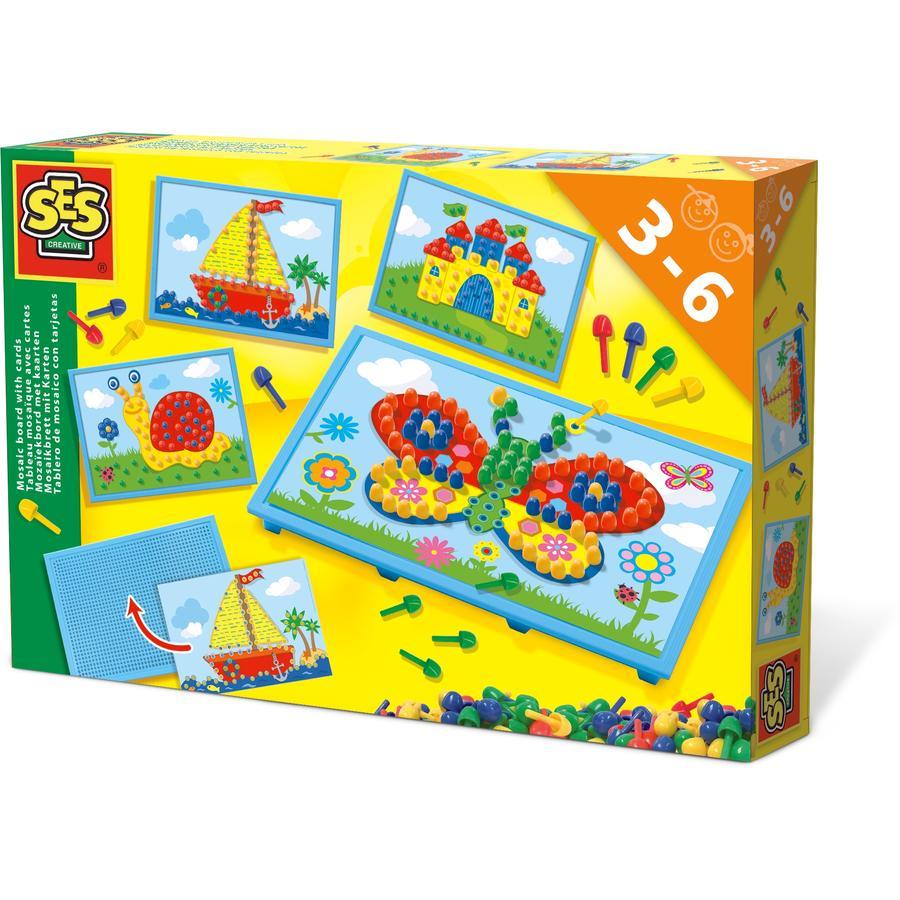 SES Creative® Mosaikbrett mit Karten