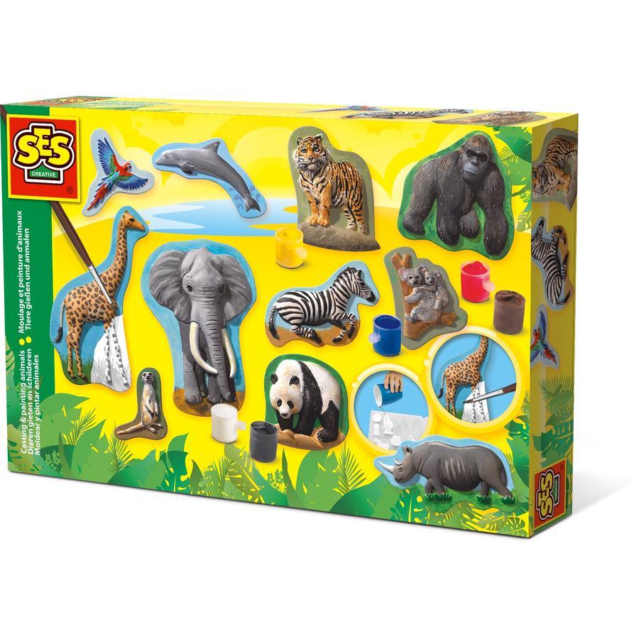 SES Creative® Relief gießen Wilde Tiere