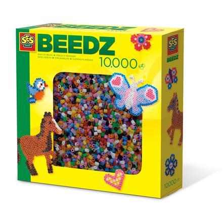 SES Creative® Bügelperlenbox 10.000 Farbmix