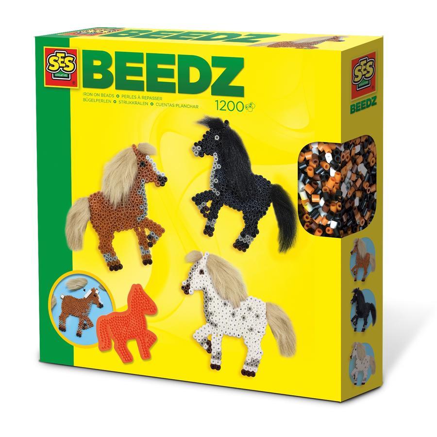 SES Creative® silitettävä helmikomplekti Hevoset manilla