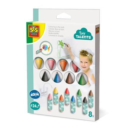 SES Creative® Crayons de bain enfant 8 pièces