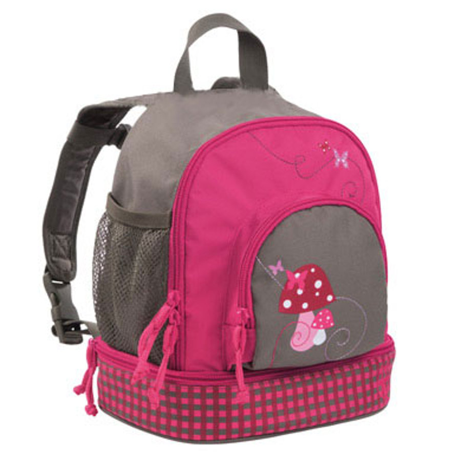 LÄSSIG Mini Ryggsäck Backpack Mushroom magenta