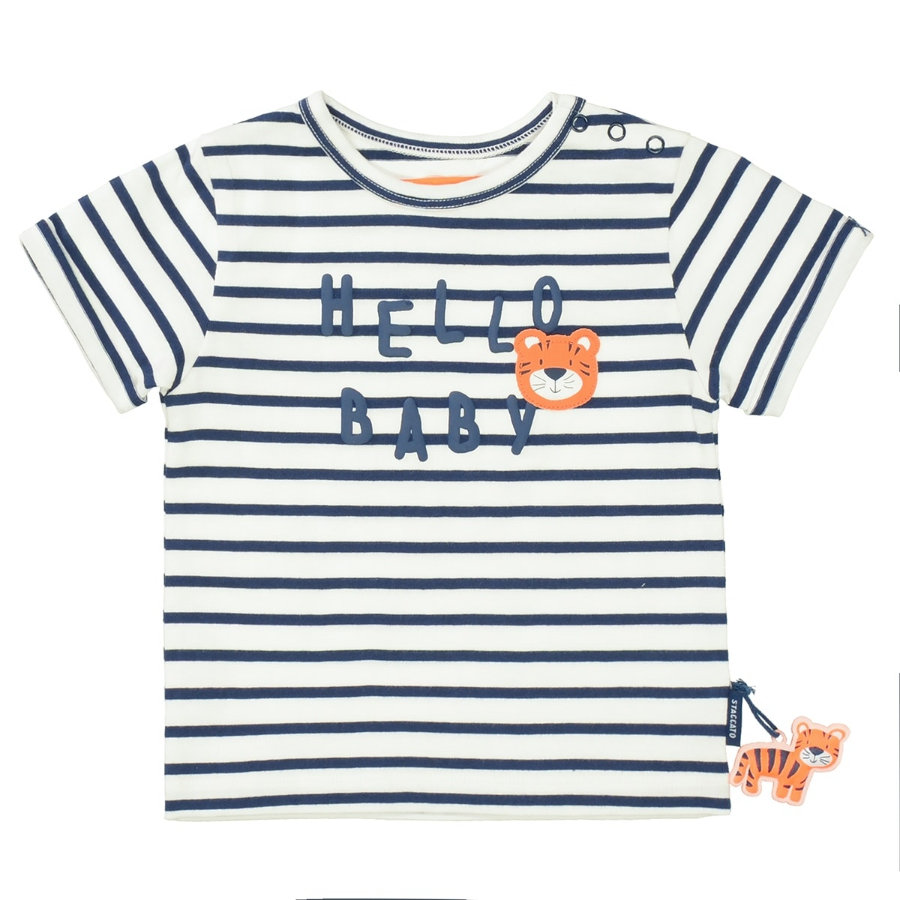 STACCATO T-Shirt marine gestreift