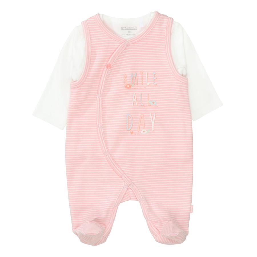 STACCATO  romper + hemd roze gestreept