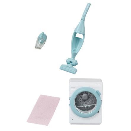Sylvanian Families® vaskemaskin og støvsuger pinkorblue.no