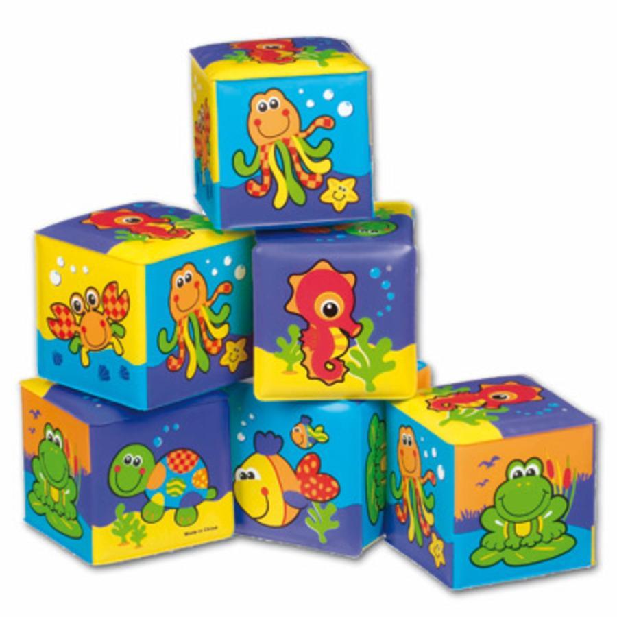 PLAYGRO Kolorowe kostki do zabawy podczas kąpieli 6 szt.