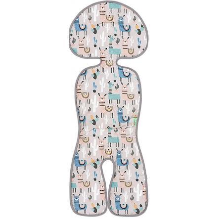 odenwälder Auflage für Babyschalen und Kindersitze, Lamas