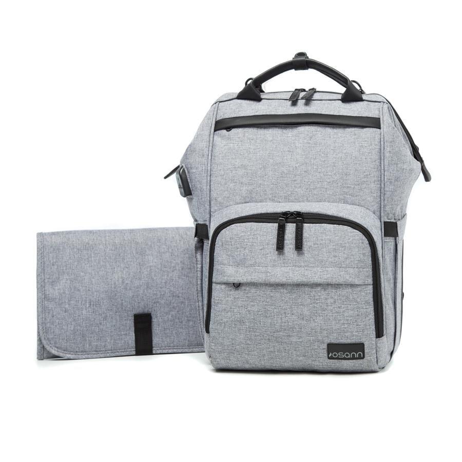 osann Sac à langer porté dos Backpack grey mélange