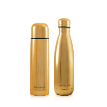 miniland myBaby&me deluxe Termo botella oro 500ml