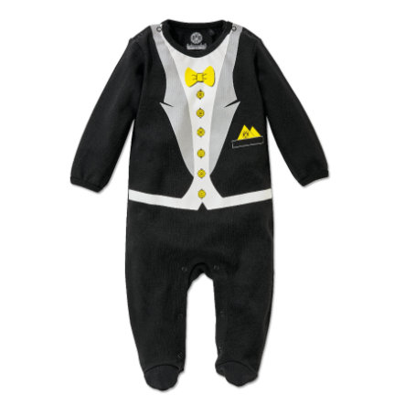 BVB baby romper kostym med fluga