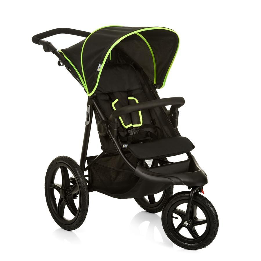 hauck Kinderwagen Runner black/neon yellow