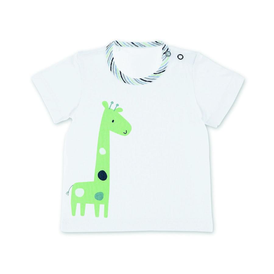 Sterntaler kortermet skjorte giraff hvit
