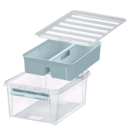 Orthex SmartStore™ Storage box Class ic 15 incl. inserto, blu pastello