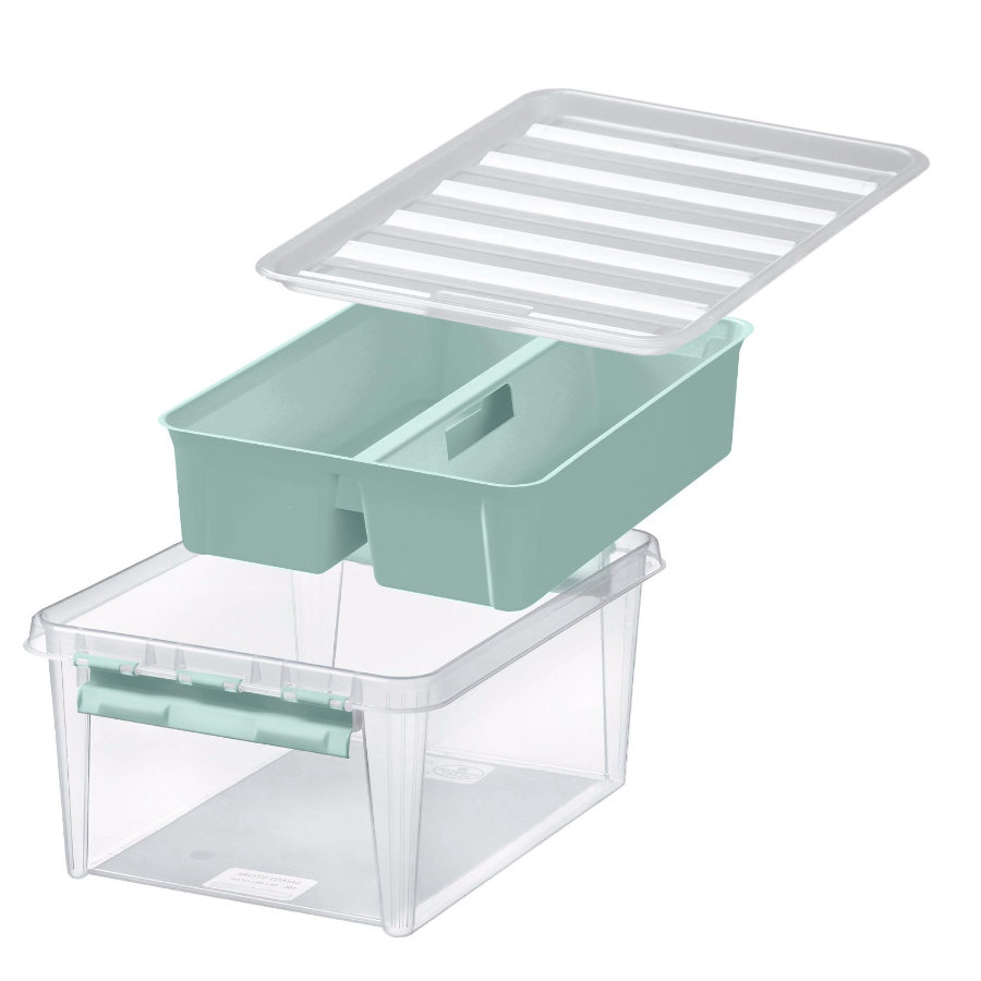 Orthex SmartStore™ Storage box Class ic 15 incl. inserto, verde pastello