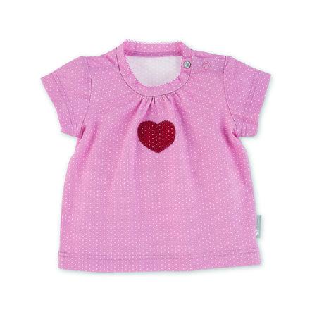 Sterntaler kortärmad skjorta hjärta ljusröd
