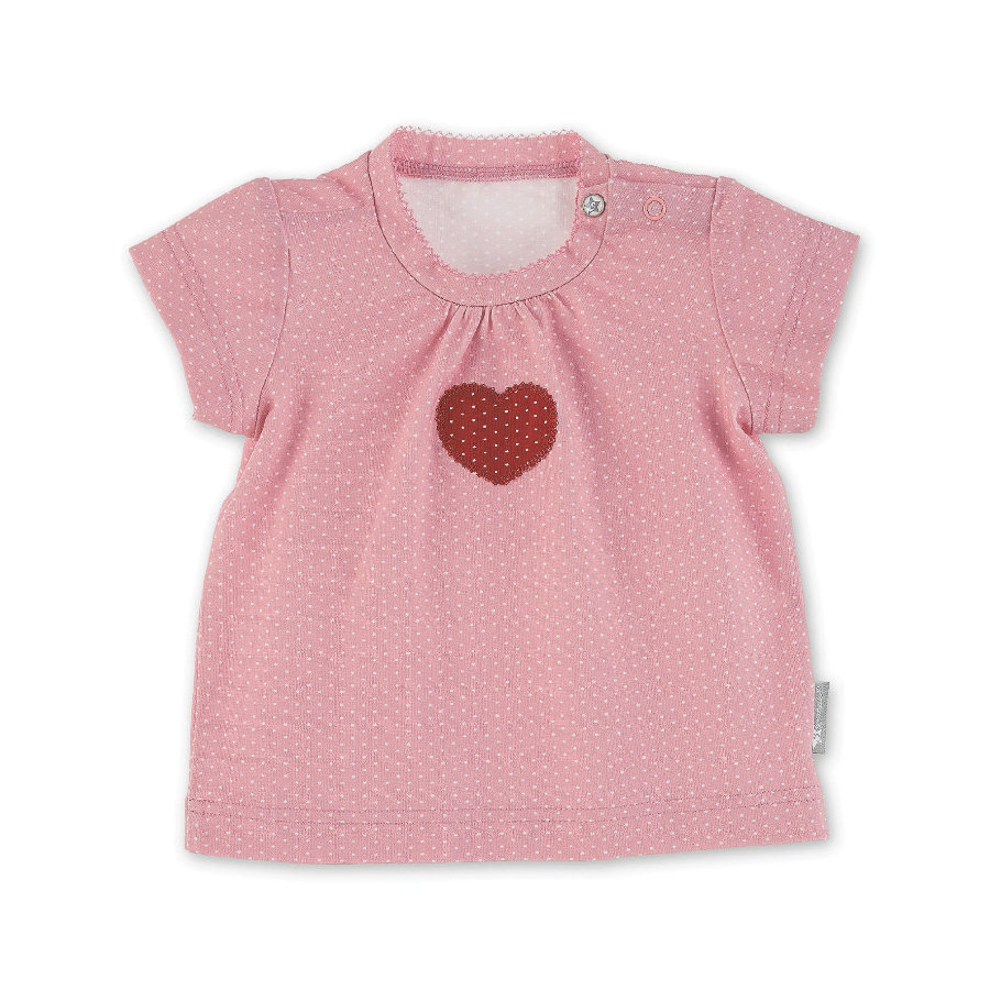 Sterntaler Camisa de manga corta corazón rojo claro