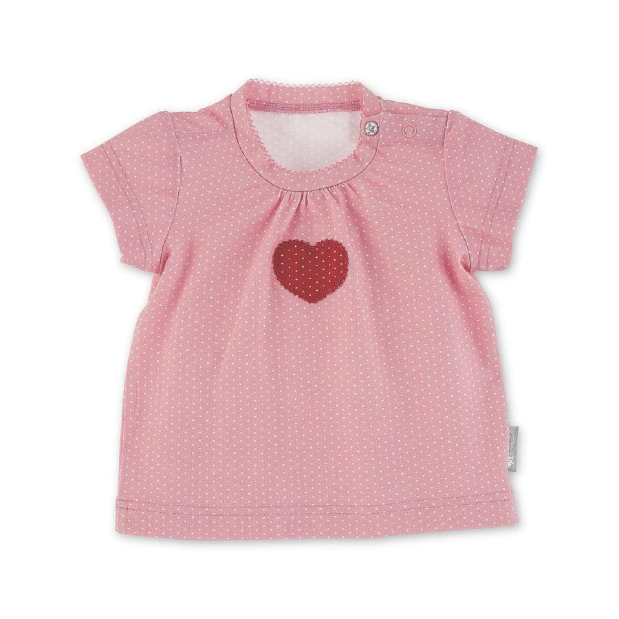 Sterntaler Shirt met korte mouwen hart lichtrood