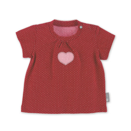 Sterntaler Camisa de manga corta corazón rojo