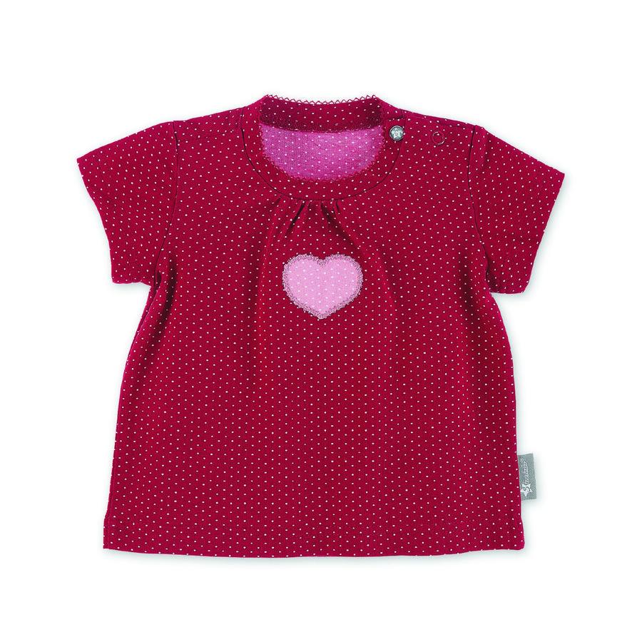 Sterntaler Kurzarm-Shirt Herz rot