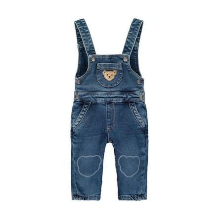 Steiff Salopette jeans, denim blu
