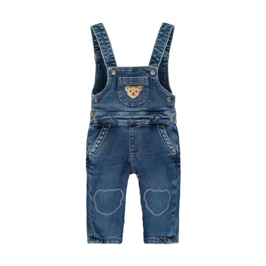 Steiff Jeanslatzhose, blue denim